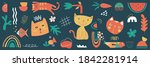 colorful collection of hand... | Shutterstock .eps vector #1842281914