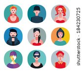 a collection of eighteen avatar ... | Shutterstock .eps vector #184230725