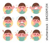 children with various facial... | Shutterstock .eps vector #1842309154