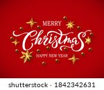 merry christmas and happy new... | Shutterstock .eps vector #1842342631