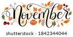 hello november. november month... | Shutterstock .eps vector #1842344044