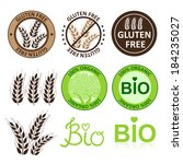 huge collection gluten free... | Shutterstock .eps vector #184235027
