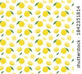 yuzu japanese citron fruit... | Shutterstock .eps vector #1842351814