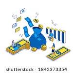 revenue on ad spend concept ... | Shutterstock .eps vector #1842373354