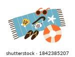 summer vacation composition....   Shutterstock .eps vector #1842385207