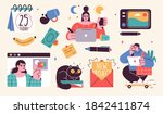 set of illustrations about... | Shutterstock .eps vector #1842411874