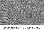 static tv noise  bad tv signal... | Shutterstock . vector #1842456757