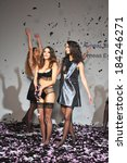 Small photo of LOS ANGELES, CA - MARCH 15: Models posing at Aeneas Erlking Fashion Presentation during Concept LA Fashion Week Fall 2014 at Mack Sennett Studios on March 15, 2014 in Los Angeles.