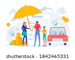 insurance agent suggests... | Shutterstock .eps vector #1842465331
