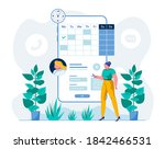 telemedicine mobile app user... | Shutterstock .eps vector #1842466531