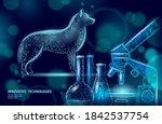 dog pet standing with... | Shutterstock .eps vector #1842537754