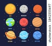 Vector Planet Icon Set Of Solar ...
