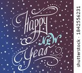 happy new year text or banner... | Shutterstock .eps vector #1842556231