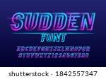 sudden alphabet font. fast... | Shutterstock .eps vector #1842557347