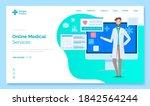 landing medical site page....   Shutterstock .eps vector #1842564244