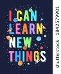 i can learn new things  kids...   Shutterstock .eps vector #1842579901