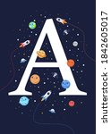 the letter a with the theme of... | Shutterstock .eps vector #1842605017