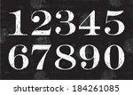 chalky numbers  vector | Shutterstock .eps vector #184261085