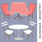 vintage decoration of table... | Shutterstock .eps vector #1842647947