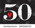 Vintage Number 50 . Vector...