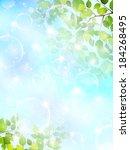 fresh green sky landscape | Shutterstock .eps vector #184268495