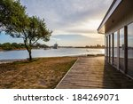 sunset at lakes entrance ... | Shutterstock . vector #184269071