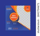 best weekend offer social media ... | Shutterstock .eps vector #1842704671