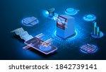 currency exchange online... | Shutterstock .eps vector #1842739141