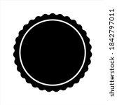 scalloped circles vector.... | Shutterstock .eps vector #1842797011
