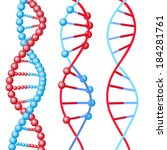 three types of dna molecules in ... | Shutterstock .eps vector #184281761