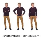front view of the same man with ...   Shutterstock . vector #1842837874