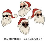 set of santa claus with... | Shutterstock .eps vector #1842873577