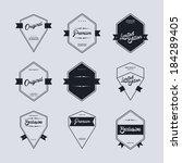 quality label art set | Shutterstock .eps vector #184289405
