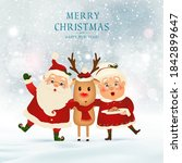 merry christmas. happy new year.... | Shutterstock .eps vector #1842899647