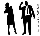 vector silhouettes of business... | Shutterstock .eps vector #184292411