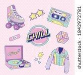 cute retro neon sticker for...   Shutterstock .eps vector #1842972781