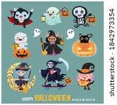 vintage halloween poster design ... | Shutterstock .eps vector #1842973354