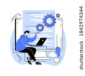 back end development abstract... | Shutterstock .eps vector #1842974344