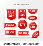 set of price tags with various... | Shutterstock . vector #1843001884