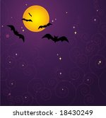 background with bat.   Shutterstock .eps vector #18430249