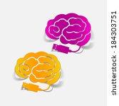 realistic design element  brain ... | Shutterstock . vector #184303751