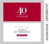 40 years anniversary invitation ... | Shutterstock .eps vector #1843084747