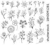 set of simple doodles of...   Shutterstock .eps vector #1843091281