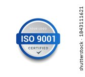 iso 9001 certified badge logo...   Shutterstock .eps vector #1843111621