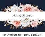 vector watercolor style wedding ...   Shutterstock .eps vector #1843118134
