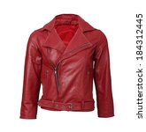 red leather jacket | Shutterstock . vector #184312445