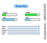 status bar game asset for game...