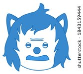 grumpy wolf disgusted emoticon  ...
