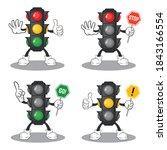 Cute Traffic Light Mascot Design