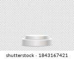 white podium or  showcase to... | Shutterstock .eps vector #1843167421